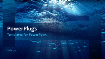 PowerPoint Template: a sea in the background with a bullet point ...